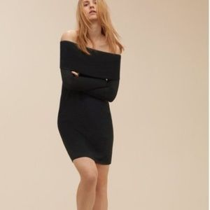 Aritzia Wilfred Free Off-Shoulder Body-Con Dress